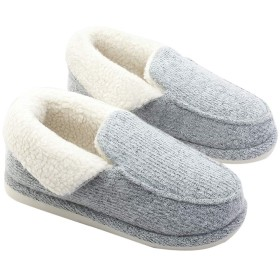 [OLCHEE] 冬 もこもこ コットンスリッパ ルームシューズ 通気スリッパ 室内履き おしゃれ 暖かい 滑らない 消音タイプ 保温防寒 柔軟 洗濯可 男女兼用25.5-26 グレー