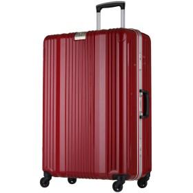 軽量スーツケース 6026-70 レジェンドウォーカー TSAロック搭載 三層構造PC100%ボディ 鏡面加工 深溝アルミフレーム 無料受託手荷物サイズ (レッド)