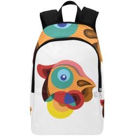 JKDLER バックパック 白い地色 カラフル鳥 大容量 軽量 撥水加工 防水 ビジネスリュック メンズ 男女兼用 通勤 通学 出張 旅行 ラップトップ Pcバッグ アウトドア