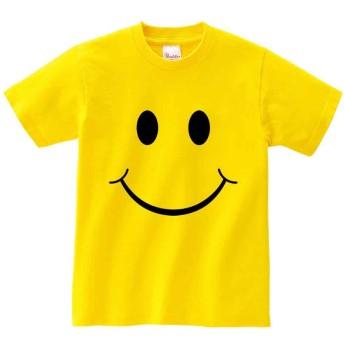【ノーブランド品】【スマイル マーク】 イエロー Mサイズ メンズ 半袖 Tシャツ