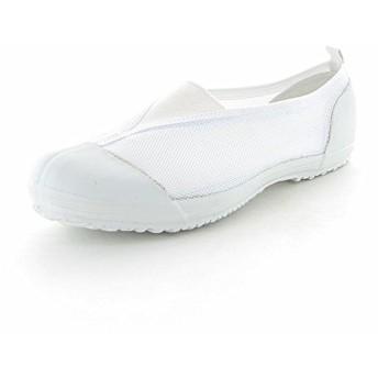 [ムーンスター] 子供靴/メンズ/レディース カラーメッシュ 02 踵踏付け防止機能搭載の上履き (25.5, ホワイト)