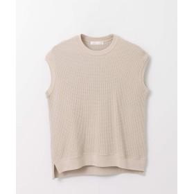 [センスオブプレイス] tシャツ ワッフルフレンチスリーブトップス レディース GREIGE FREE