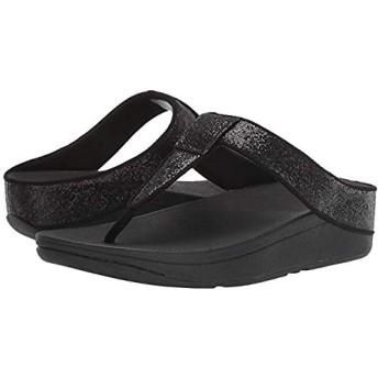 [フィットフロップ] レディースサンダル・靴 Lina Glitter All Black (24cm) M (B) [並行輸入品]