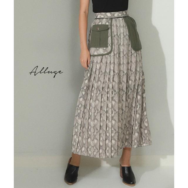 【セール開催中】ANAP(アナップ)パイソンミリタリーポケット付プリーツスカート
