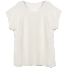SIXIULIYU 100%天然シルククレープブラウス女性夏シャツシルクトップカジュアルスタイル(06、L)