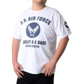 [ボーメール] 大きいサイズ メンズ ドライ Tシャツ ミリタリーロゴ プリント 吸汗速乾 ホワイト 3L