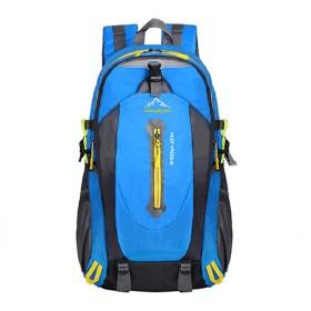 超軽量の便利なトラベルバックパック、耐水性のあるパック可能なバックパックデイパック軽量折りたたみ式キャンプアウトドア旅行サイクリングスクールバックパッキング40リットル6色の選択肢 (ブルー)