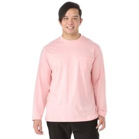 メンズ 【在庫限り】<大きいサイズ> 天竺長袖無地Tシャツ