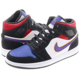 [ナイキ] AIR JORDAN 1 MID SE BLACK/FIELD PURPLE/WHITE/GYM RED US8.5-26.5cm [並行輸入品]
