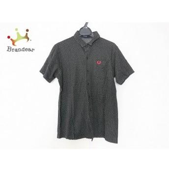 フレッドペリー FRED PERRY 半袖シャツ サイズM メンズ 美品 黒×グレー ドット柄 新着 20190719