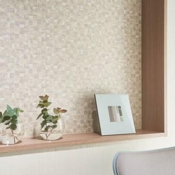 壁紙屋本舗 のりなし 壁紙 おしゃれ シンプル タイル ライトパープル パール調 モザイク スクエア SBB-1414 BB-1414 1m単位 切売