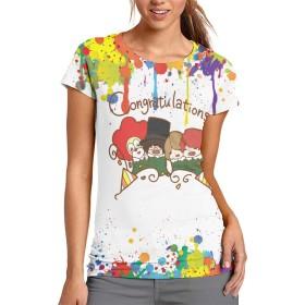 世界の終わり Sekai No Owari セカオワ レディース Tシャツ 半袖 3D プリント 無地 クルーネック 薄手 プリント シンプル 春 夏 秋 上着 ティシャツ