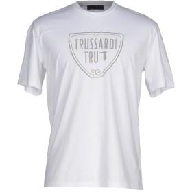 《期間限定セール開催中!》TRU TRUSSARDI メンズ T シャツ ホワイト S コットン 95% / ポリウレタン 5%