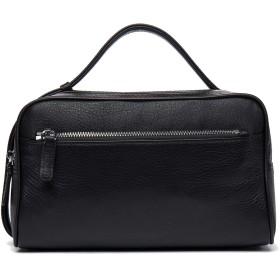 【DANJUE】 天然皮革 本牛革鞄 クラッチバッグ メンズ 2室 セカンドバッグ ビジネス ハンドバッグ メンズ 2way ハンドル ダブルファスナー 大容量 iPad 紳士用 黒 212-1