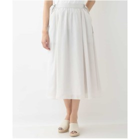 GEORGES RECH 【洗濯機OK】サイドベルトボリュームスカート その他 スカート,ライトグレー
