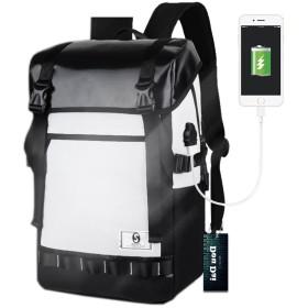 DouDai リュックサック メンズ 人気 大容量 防水 A4 通学 高校生 学生 おしゃれ アウトドア 旅行 USBポート付き
