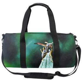 ドラムバッグ 大容量 2way ボストンバッグ バッグパック リュック ショルダーバッグ 防水 蜂動物花 スポーツ 旅行 アウトドアー