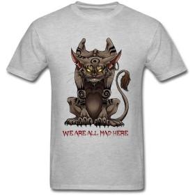 Man 100%コットンチェシャ猫Tシャツ