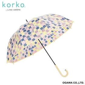 korko(コルコ) 雨傘【korko(コルコ)】(手開き/ビニール傘/軽量/グラスファイバー骨/シリコンの滑り止め付)【スウィーティ/60】