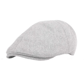 WITHMOONSキャスケットハンチング帽ウール ニューズボイハット フラットキャップSL3021(Gray)