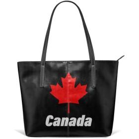 カナダカエデの葉 収納 おしゃれ 高級感レディース トートバック
