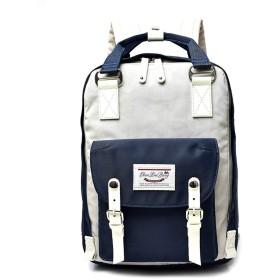 ノウ建材貿易 オックスフォード布の防水ショルダーバッグ野生のレジャー大学の風の旅行のバックパック (色 : Navy blue)