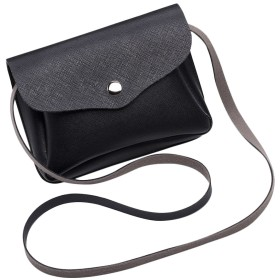 Plus Nao(プラスナオ) ショルダーバッグ ミニショルダー ポシェット ミニバッグ コンパクト バッグ 鞄 かばん カバン 斜めがけ スマホ お財 - ブラック