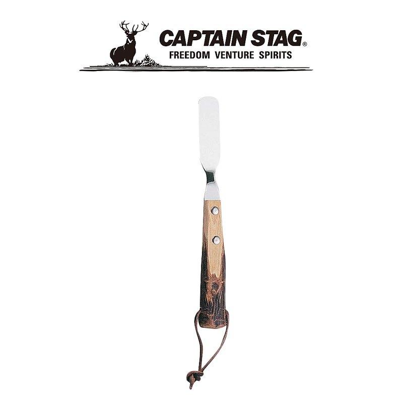 ├登山樂┤日本 Captain Stag 鹿牌 原木柄奶油刀 # M-8570