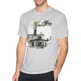 メンズ Tシャツ 半袖 おしゃれ エリック・クラプトン Eric Clapton 461 Ocean Boulevard Remastered プリント スポーツ着 グレー L