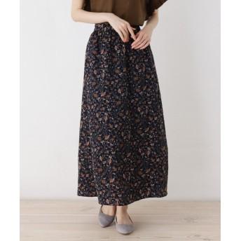 pink adobe(ピンクアドベ) ペイズリープリントギャザースカート