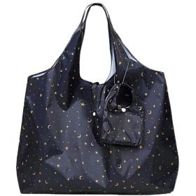 レディース防水トートバッグ 収納袋付 星柄