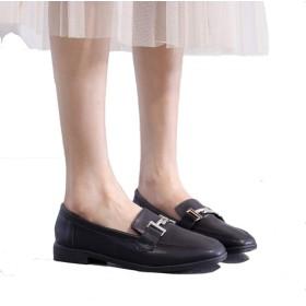 [幸福マーケット] ビットローファー スリッポン レザー レディース ぺたんこ シューズ 靴 春 カジュアル ヒール 2センチ 26cm 黒 ブラック 白 ホワイトフラット 歩きやすい 痛くない 大人 通勤 通学 軽量 美脚
