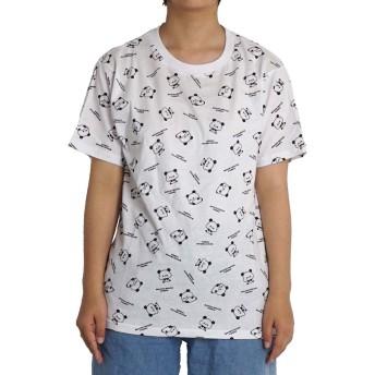 もちもちぱんだ mochimochipanda tシャツ 半袖 パンダ hpw5365 LL ホワイト06