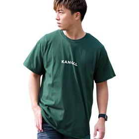 (カンゴール)KANGOL メンズ 半袖 Tシャツ クルーネック ロゴ プリント 刺繍 別注KAB19-03 M D.GRN(ダークグリーン)