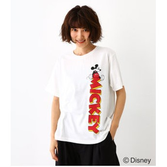 【Rodeo Crowns/RODEO CROWNS WIDE BOWL:トップス】サイドロゴ Tシャツ / MICKEY