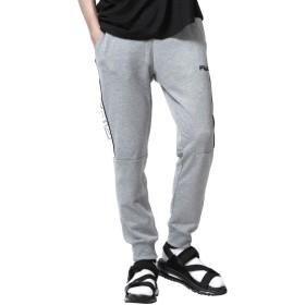 [フィラ] FILA ジョガーパンツ スウェット サイドライン バイカラー メンズ ファッション fh7520 杢グレー LL