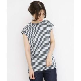 [ケービーエフ] tシャツ BIGノースリーブTシャツ レディース BLUE×OFF one