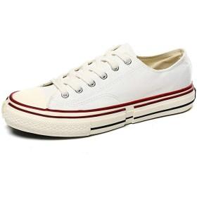 [AJGLJIYER LTD] カラーマッチング 27.0cm 車縫い キャンバスシューズ メンズ キャンバス 布 クロスバンドストラップ 39 (24.5㎝) 40 (25㎝) 41 (25.5㎝) 42 (26㎝) 43 (26.5㎝) 44 (27㎝) 白色 カジュアル 通気性 カジュアルシューズ スニーカー スポーツシューズ 紳士靴