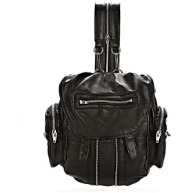 MARTI BACKPACK IN WASHED BLACK WITH RHODIUM 3 WAY (LARGE) [並行輸入品]