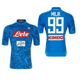 1819年度 Naples サッカーユニフォーム SSCナポリ ホーム ブルー 半袖 No.99 メンズ レプリカ 半袖 L