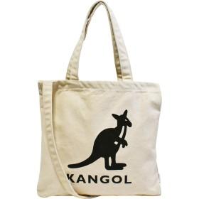 [カンゴール] KANGOL キャンバス 2WAY トートバッグ ショルダーバッグ オフホワイト