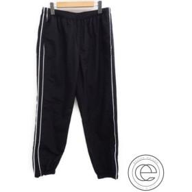 国内正規 17AW Supremeシュプリーム Supreme Piping Track Pants バックロゴ刺繍入り ナイロン トラックパンツS  ブラック  メンズ