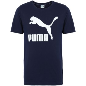 《セール開催中》PUMA メンズ T シャツ ブルー S コットン 100% Classics Logo Tee Peacoat