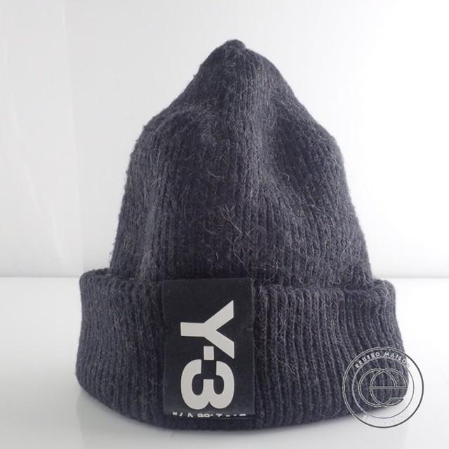 Y-3 ワイスリー CD4764 BADGE BEANIE ロゴパッチ ビーニー/ニットキャップ 帽子 ダークグレー メンズ