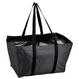 ds-1821854 エコマイバッグ/買い物トートバッグ 【ブラック】 レジカゴ対応 ポリエステル製 (ds1821854)