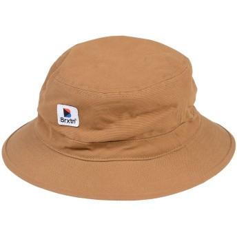 《期間限定セール開催中!》BRIXTON メンズ 帽子 キャメル L コットン 100%