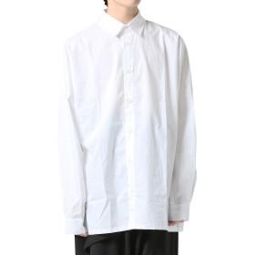 [アズスーパーソニック] シャツ ロング丈 ビッグシルエット モード系 無地 長袖 メンズ 白 F