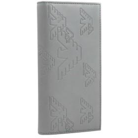 エンポリオアルマーニ/EMPORIO ARMANI メンズ PVC 2つ折り長財布 グレー YEM474-YH187-80123
