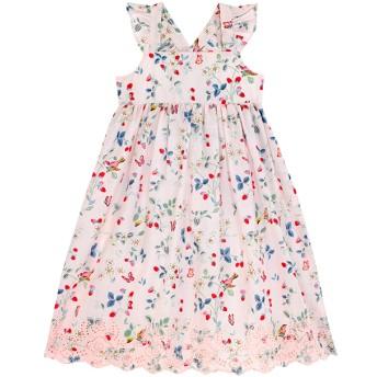 【125-135cm】刺繍 アングレイズドレス バード&ベリー