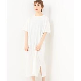 journal standard luxe 【SOIL/ソイル】 ユーズドテンジク CREW-NECK JERSEY DRESS ナチュラル フリー